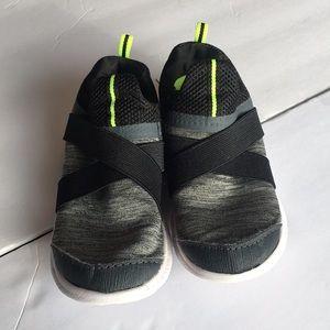 Boys Slip On Shoes Size 11 Little Boys Black Gray
